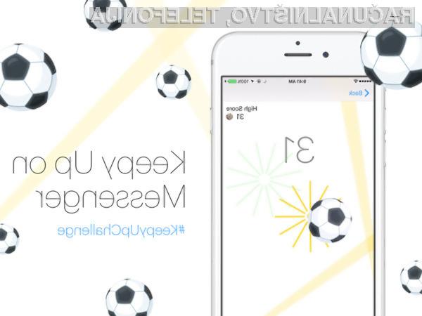 Preprosta igra nogometa v spletni klepetalnici Facebook Messenger vas bo zagotovo takoj prevzela!