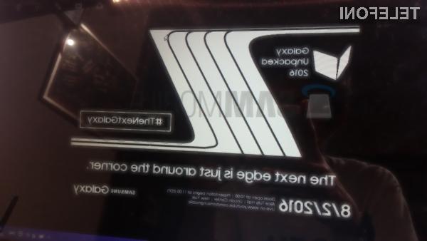 Nov Galaxy Note 7 naj bi ponujal tudi posodobljeni uporabniški vmesnik