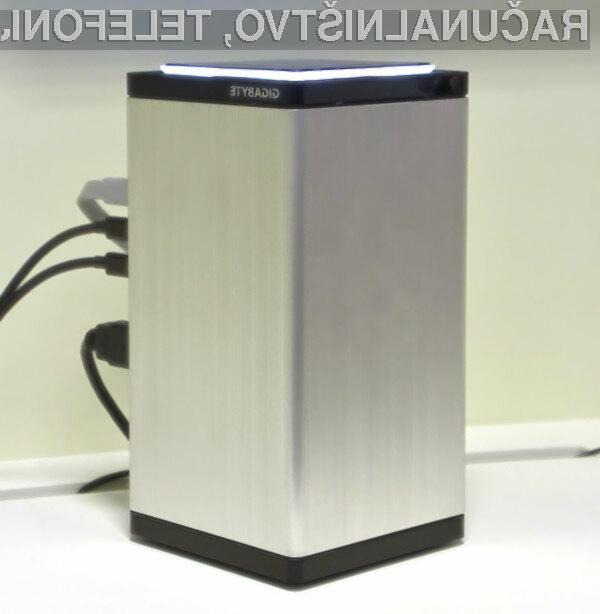 Kompaktni igričarski računalnik Gigabyte Brix bo zlahka poganjal igre v ločljivosti 4K.
