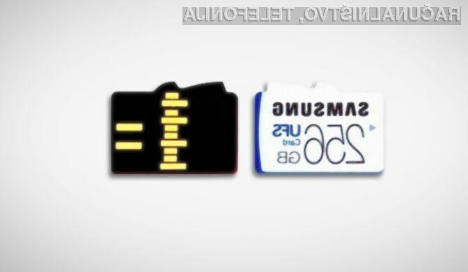 Nova pomnilniška kartica Samsung ni združljiva s pomnilniškimi karticami microSD.