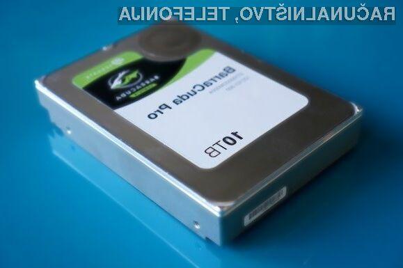 Zmogljivi trdi disk s kapaciteto 10 TB bo kmalu postal del našega vsakdana!