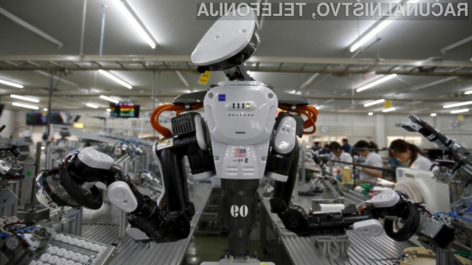 Kitajska naj bi do leta 2020 delež robotov v tovarnah povečala na 150 robotov na 10.000 delavcev.