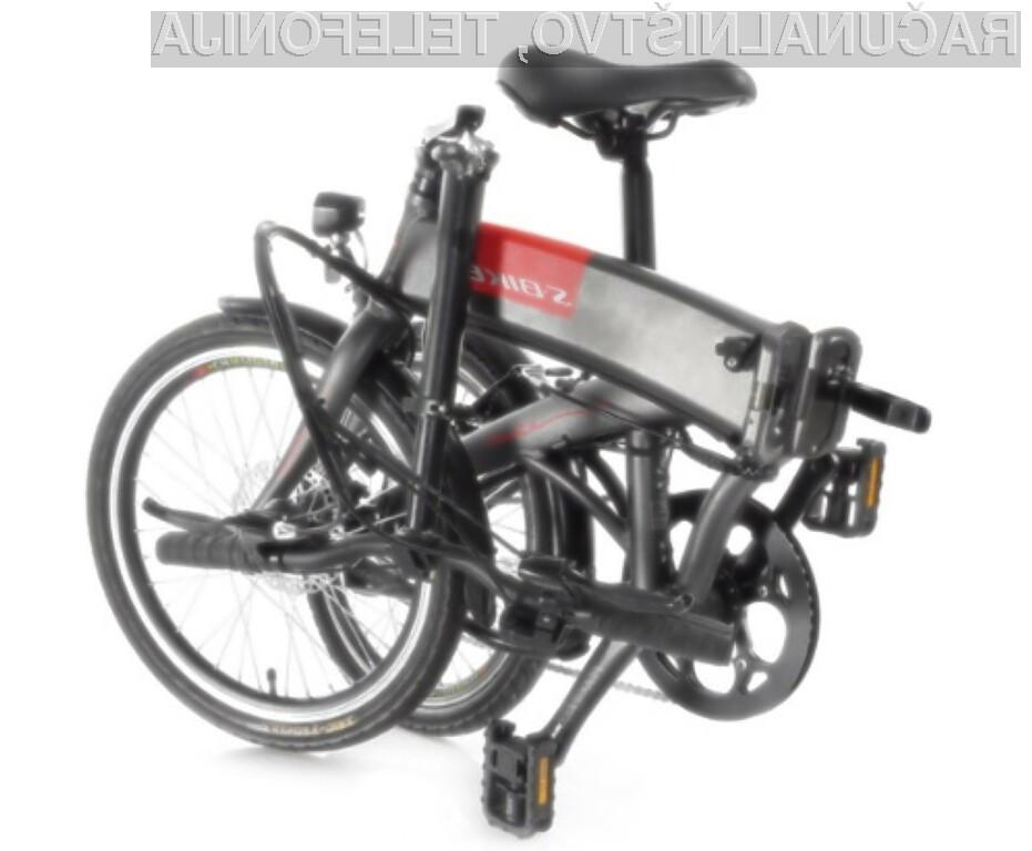Zložljivo električno kolo S-Bikes lahko brez težav nesemo na vlak, v dvigalo, avtobus ali pisarno.