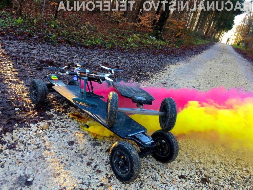 Električna rolka se lahko zaradi težav z baterijo celo vžge ali eksplodira.