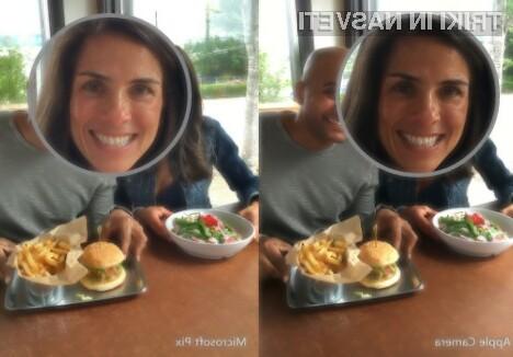 Z mobilno programsko opremo Microsoft Pix so fotografije zajete z mobilnimi napravami Apple precej bolj kakovostne.