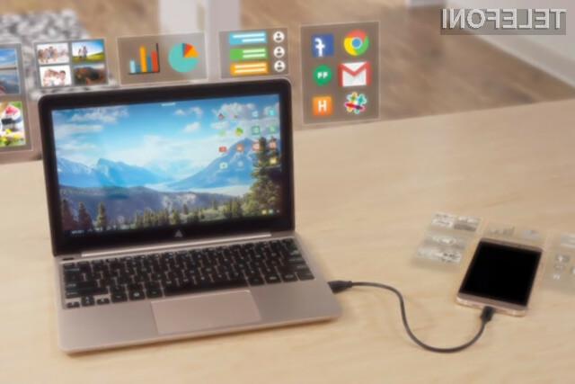 Ohišje z zaslonom Superbook bo vsak pametni mobilni telefon prelevilo v praktični prenosnik.