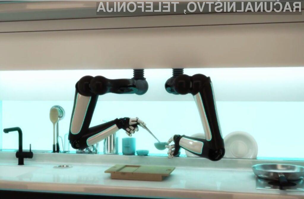 Kuhinjski robot podjetja Moley Robotics vam bo skuhal kar 2.000 različnih obrokov.