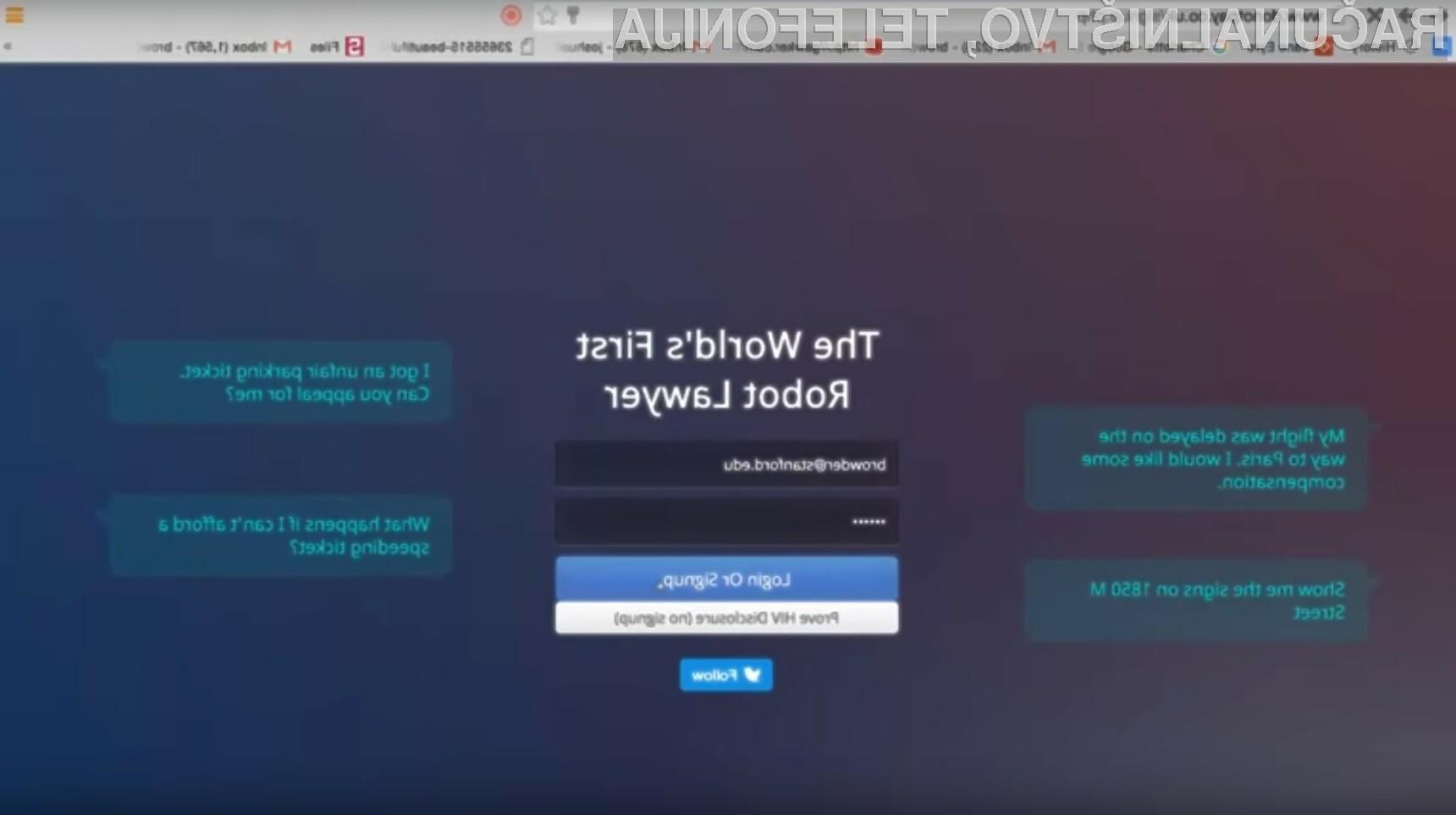 Uspešnost robota odvetnika je v praksi presenetljivo dobra!