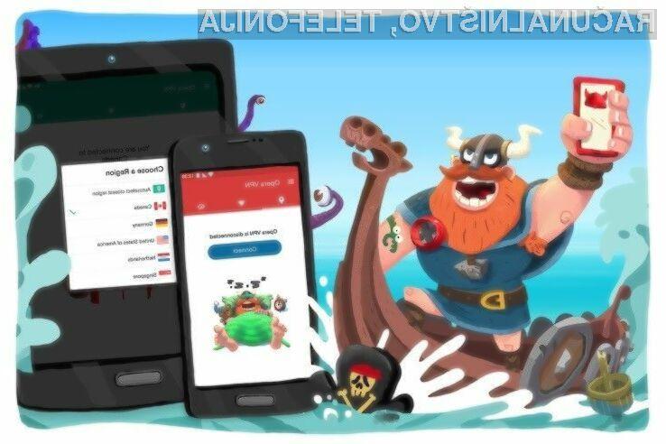 VPN povezava v novi mobilni Operi za Android je povsem brezplačna!