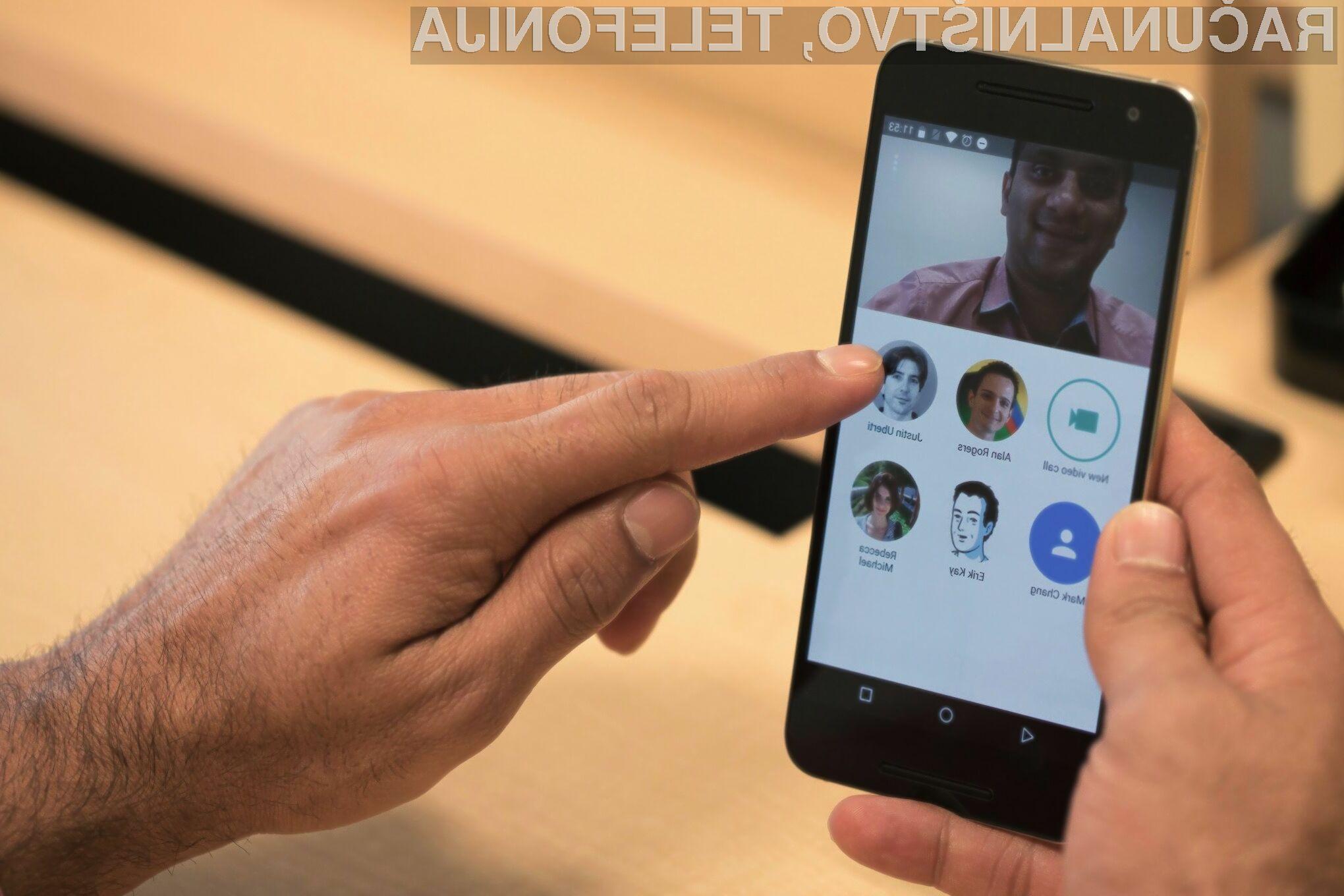 Google Duo obnorel uporabnike mobilnih naprav. Preizkusite ga tudi vi!