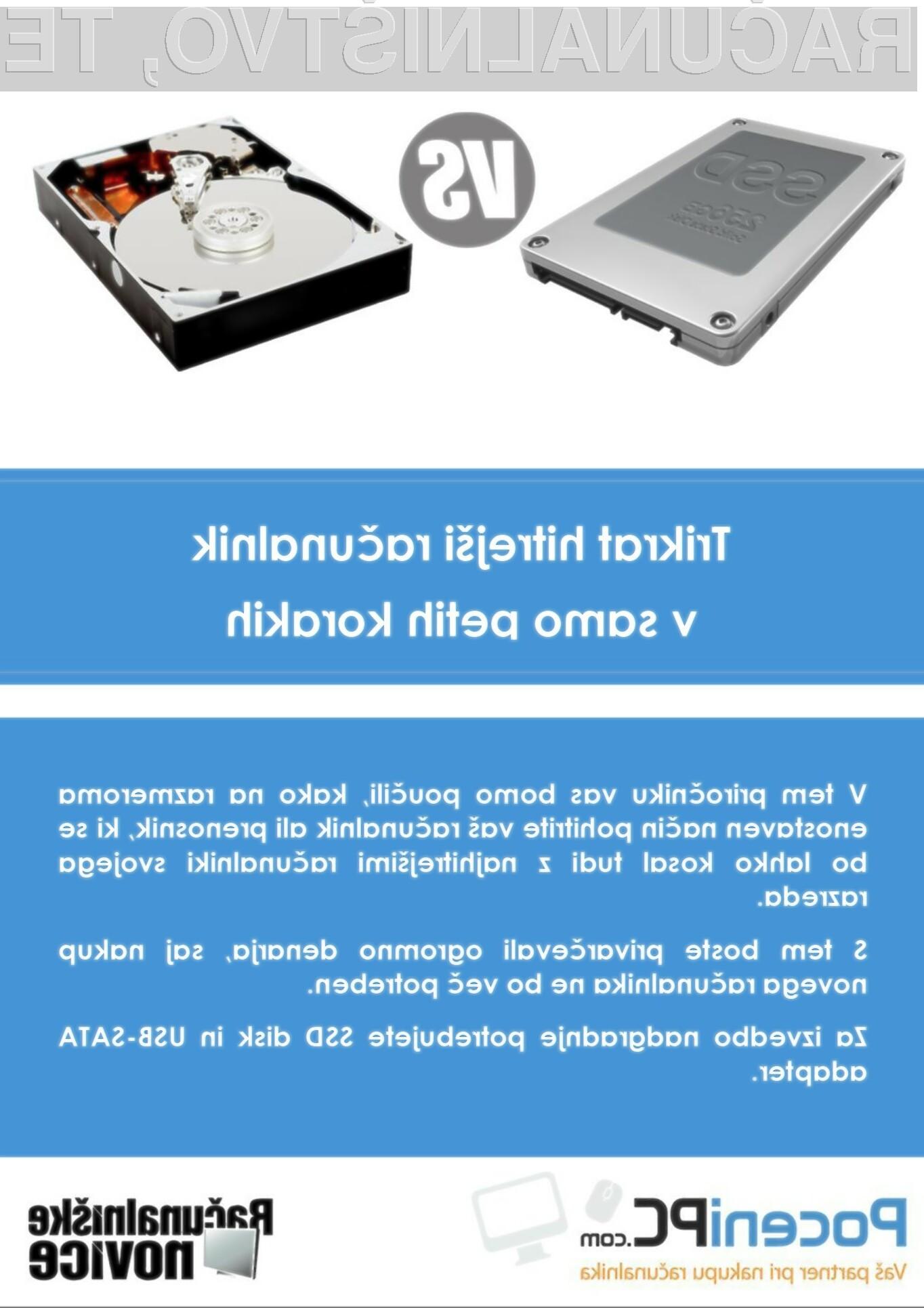 Priročnik za vgradnjo SSD diska
