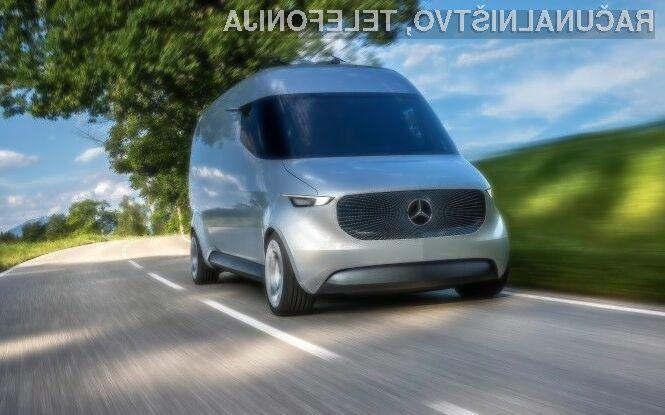 Nova samovozeča dostavna vozila podjetja Mercedes-Benz bodo dostavnim službam pomagala pri prevozu paketov v gosto naseljenih mestih.