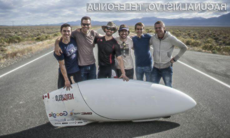 Najhitrejše kolo na svetu na človeški pogon doseže hitrost 144 kilometrov na uro!