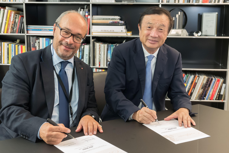 Dr. Andreas Kaufmann, večinski delničar ter predsednik svetovalnega odbora podjetja Leica Camera AG ter Ren Zhengfei, ustanovitelj podjetja Huawei.
