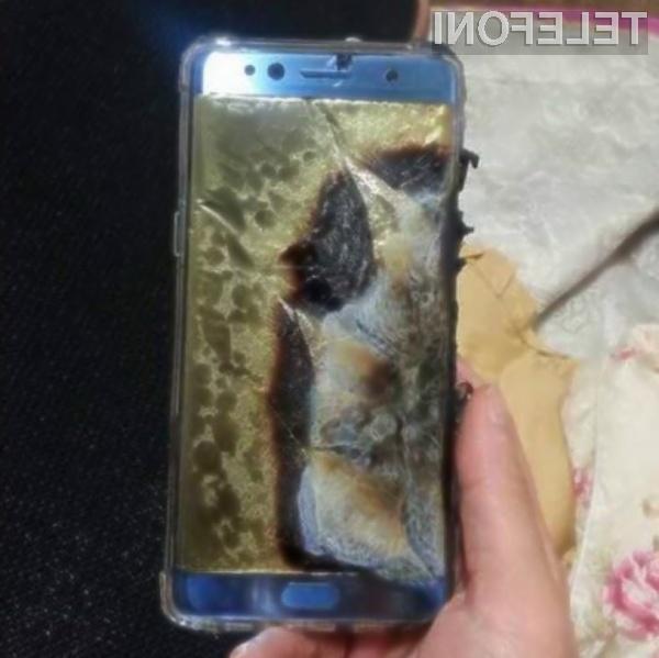 Težave s pametnim mobilnim telefonom Galaxy Note 7 bi lahko celo uničile podjetje Samsung!