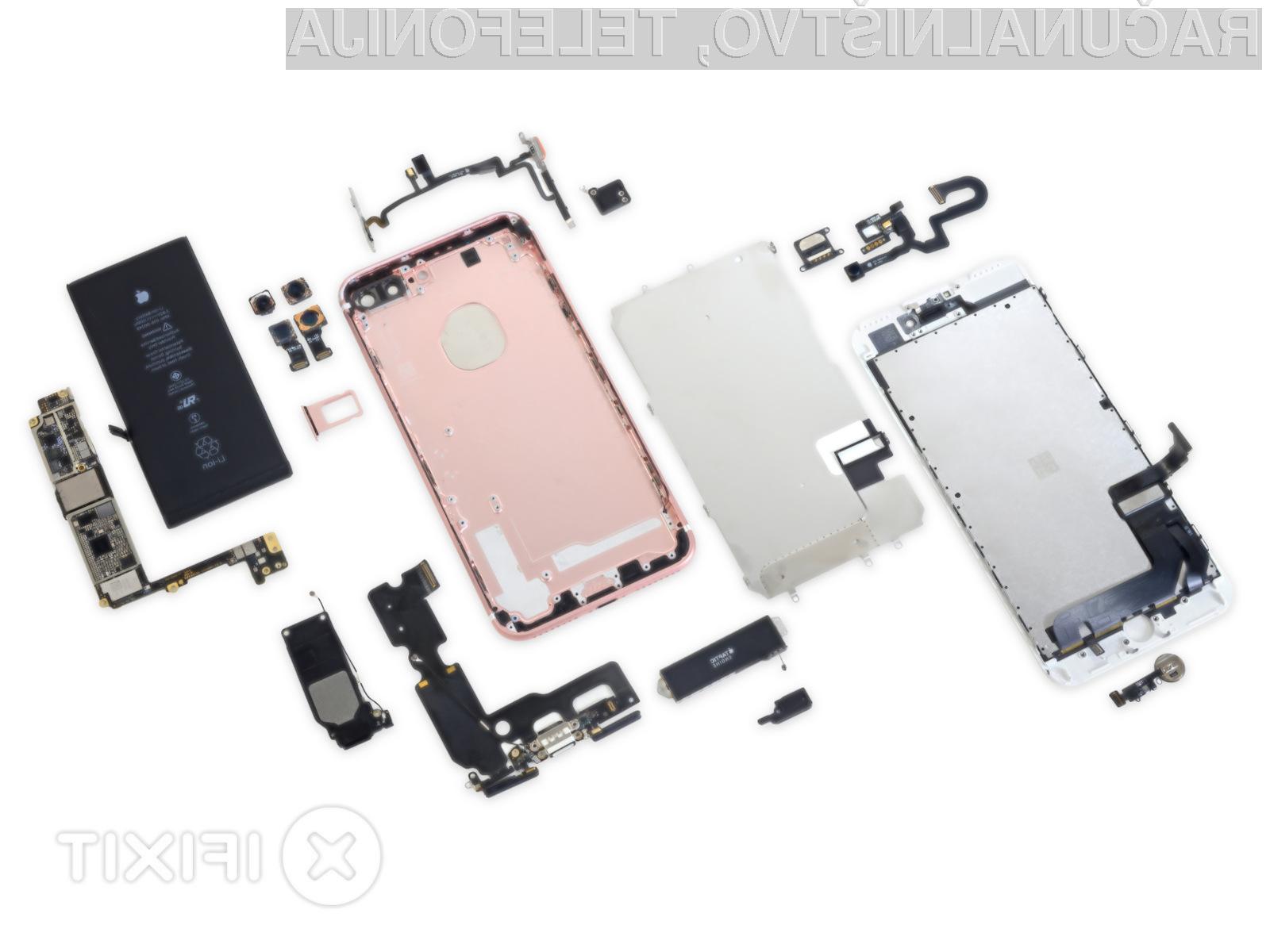 Stroški izdelave pametnega mobilnega telefona iPhone 7 so presenetljivo nizki!