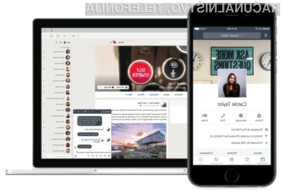 Facebook Workplace je prilagojen podjetniškim okoljem!
