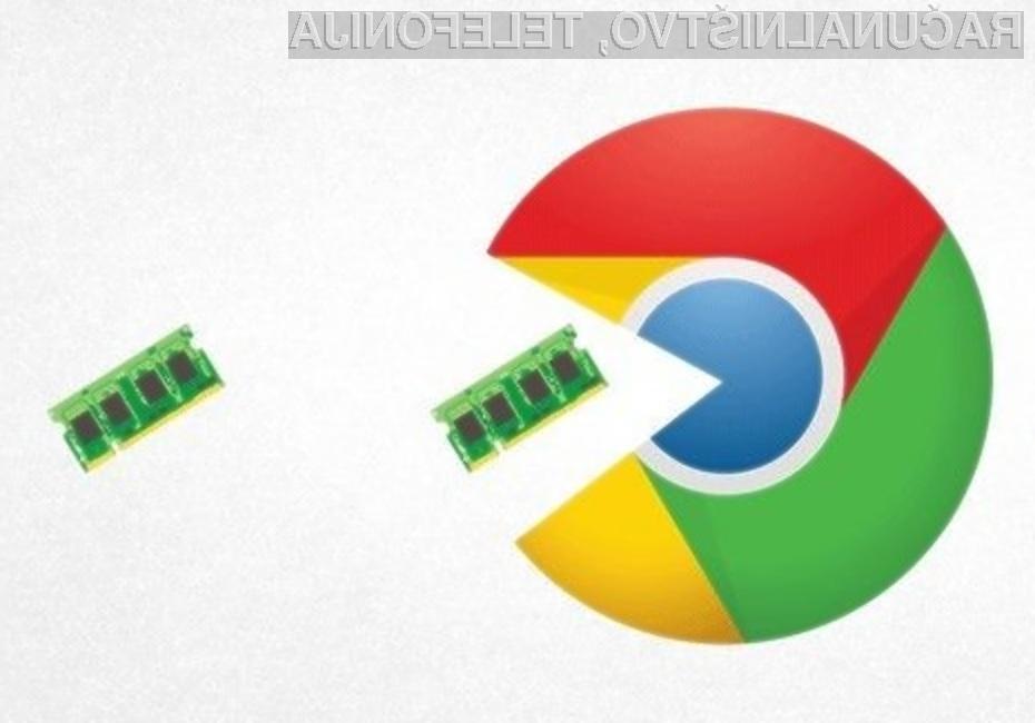 Novi Google Chrome bo precej manj »požrešen« s sistemskim pomnilnikom!