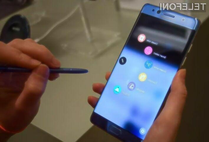 Eksplozivni telefoni Galaxy Note 7 niso ogrozili poslovanja podjetja Samsung!