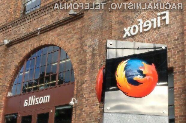 Mozilla Firefox naj bi bil z novim pogonom znatno bolj konkurenčen brskalnik!