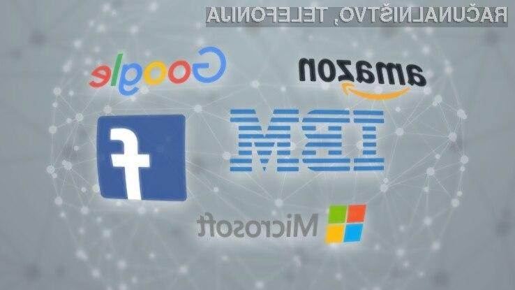 Facebook, Amazon, IBM, Google in Microsoft skupaj za napredek umetne inteligence