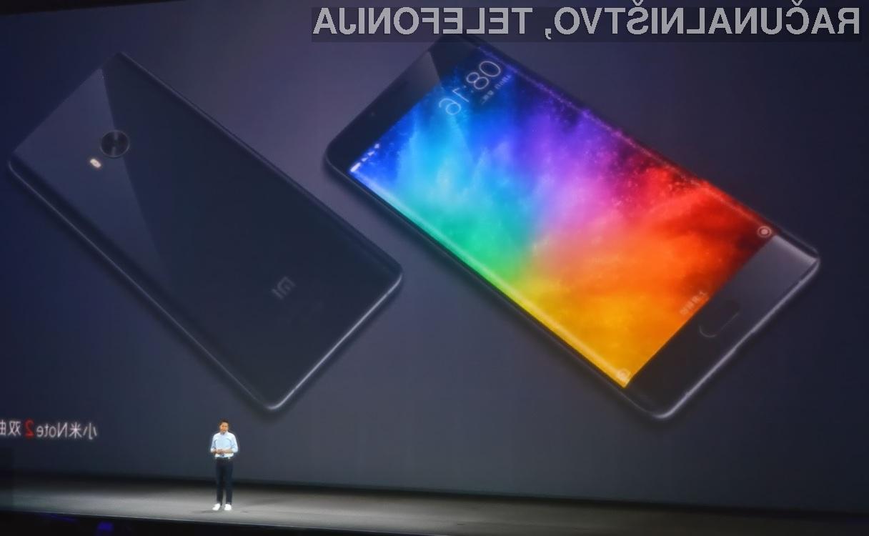 Mi Note 2: Prvi telefon Xiaomi z ukrivljenim zaslonom