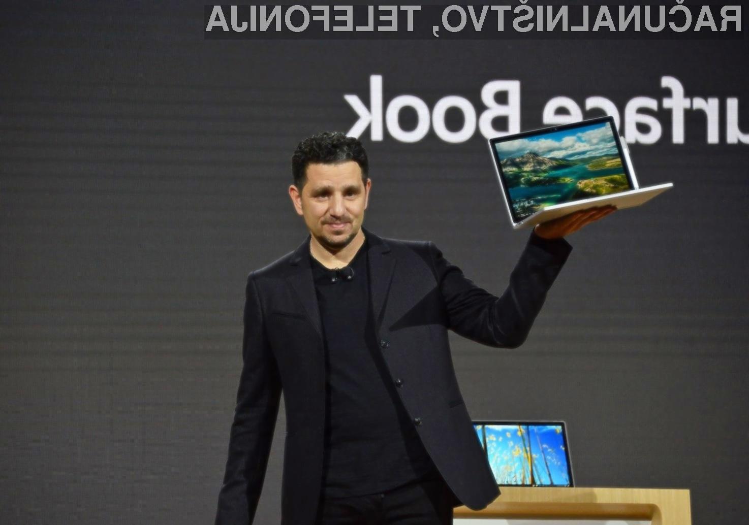 Novi Microsoft Surface Book i7 lahko brez polnjenja uporabljamo kar 16 ur!