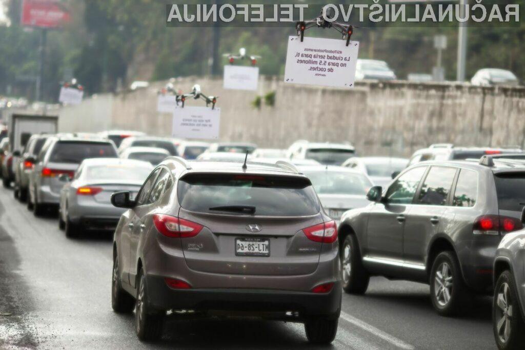 Kako Uber voznike nadleguje z rojem dronov