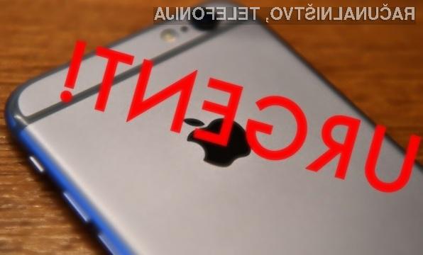 Pred hudo varnostno ranljivostjo v operacijskem sistemu iOS je varna različica 10.1!