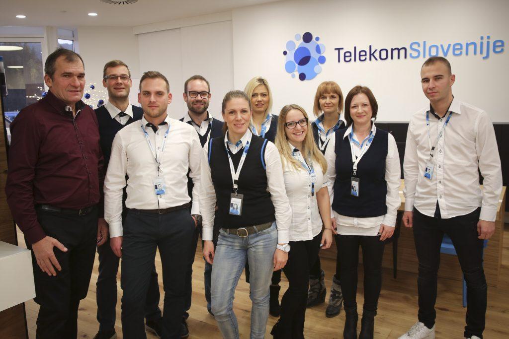 Ekipa Telekomovega centra Slovenj Gradec