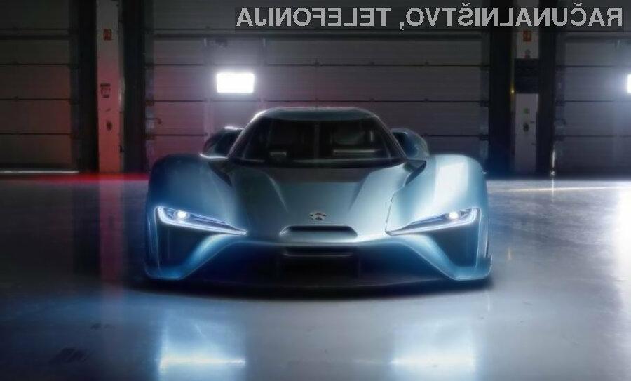 Najhitrejši električni avtomobil na svetu NextEV NIO EP9 pri polni obremenitvi doseže hitrost do 312 kilometrov na uro.