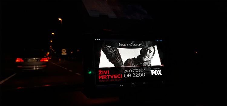 Programatično oglaševanje v taksijih