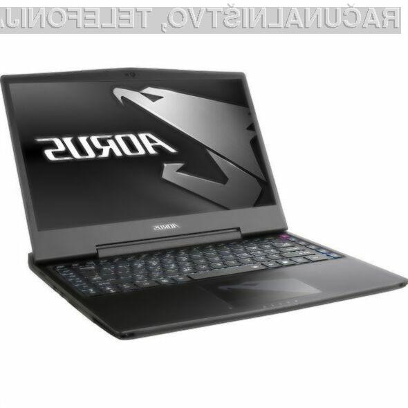 Prenosnik Aorus Plus X3 v6 bo zlahka kos tudi najzahtevnejšim igram.