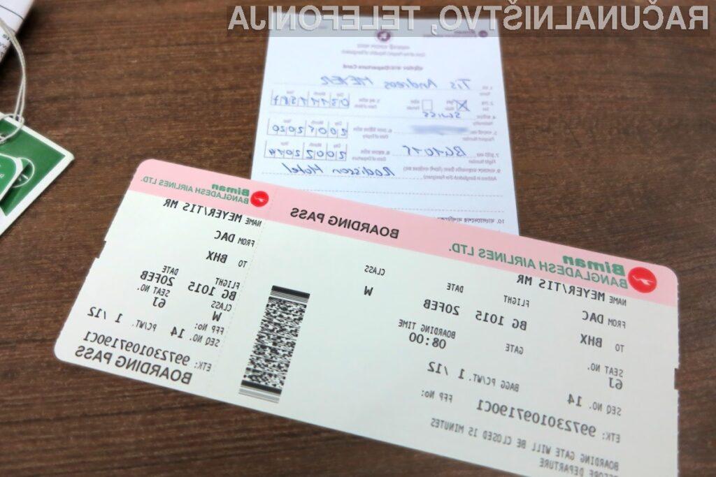 Že objava slike letalske vozovnice naj bi bila dovolj, da vam hekerji spremenijo dan leta.
