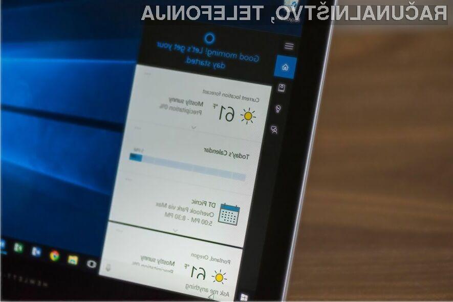 Digitalna asistentka Cortana naj bi poenostavila postopek namestitve operacijskega sistema Windows 10.