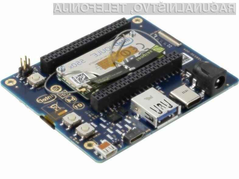 Računalniški sistem Intel Joule 550x je primeren tudi za zahtevnejša opravila.
