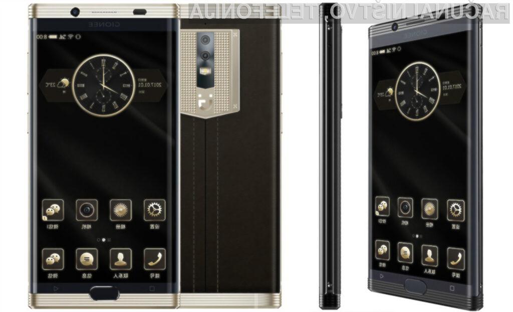 Pametni mobilni telefon Gionee M2017 je brez dvoma pisan na kožo poslovnežem!