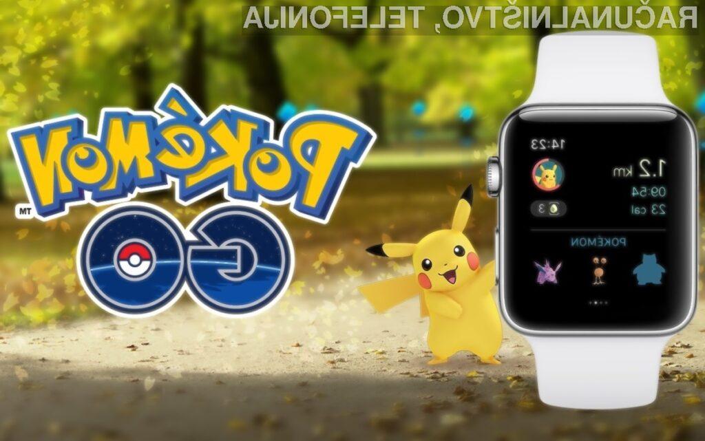 Igra Pokémon Go je bila v celoti prilagojena majhnemu zaslonu pametne ročne ure Apple Watch!