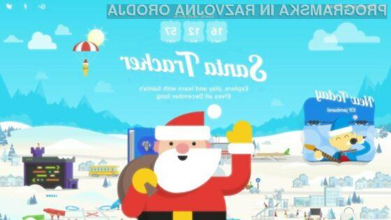 Sledite Božičku z Googlovo aplikacijo