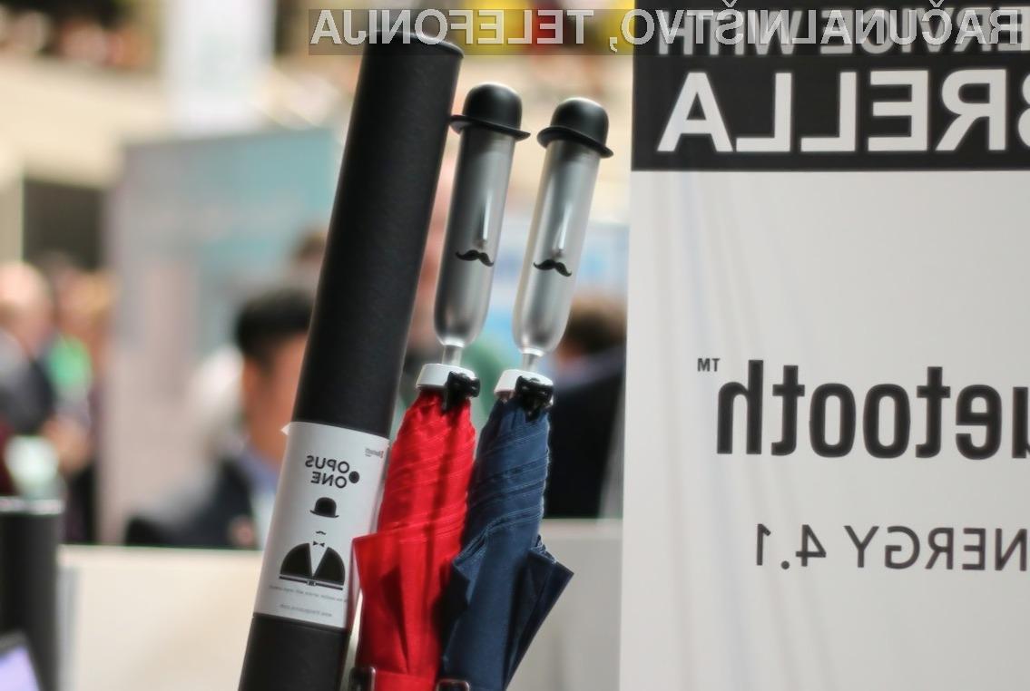 Pametni dežnik Opus One nam bo olajšal marsikatero opravilo!