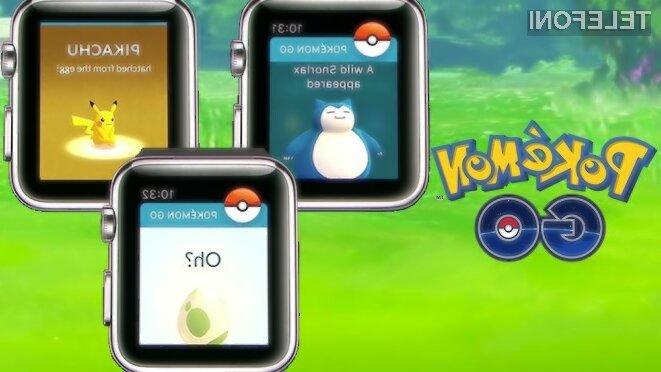 Priljubljena igra Pokemon Go bo kmalu na voljo še za Apple Watch!