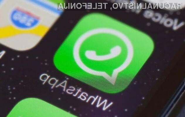 Storitve WhatsApp kmalu ne bo mogoče uporabljati na starejših mobilnih platformah!