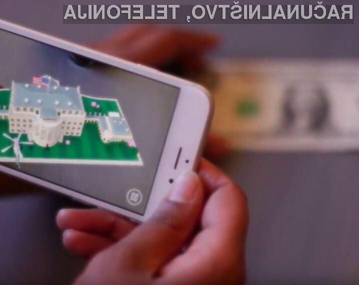 Mobilno aplikacijo 1600 bomo lahko zagnali le, če bomo na mizi imeli bankovec za en ameriški dolar.