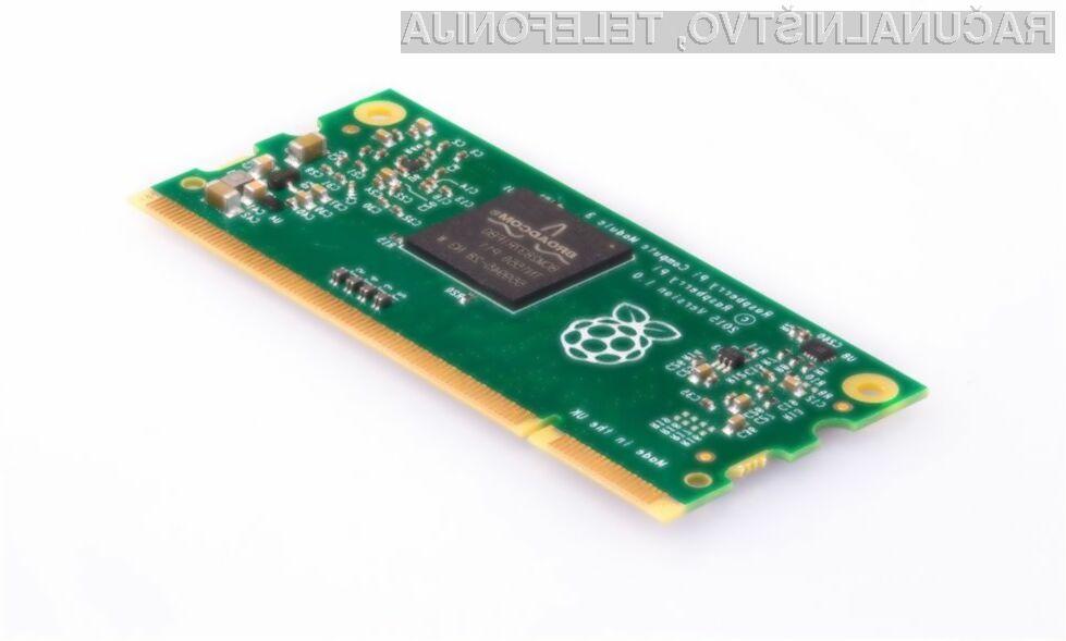 Raspberry Pi Compute Module 3 je zaradi zmogljivosti in kompaktnosti primeren tudi za nekoliko zahtevnejša opravila.