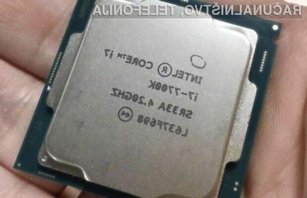 Procesor Intel Core i7-7700K s sredicami Kaby Lake se navija kot za stavo!