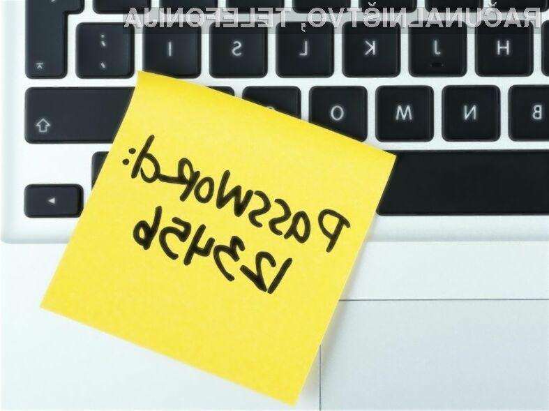 Če je vaše geslo na seznamu 25 najslabših, ga takoj zamenjajte!
