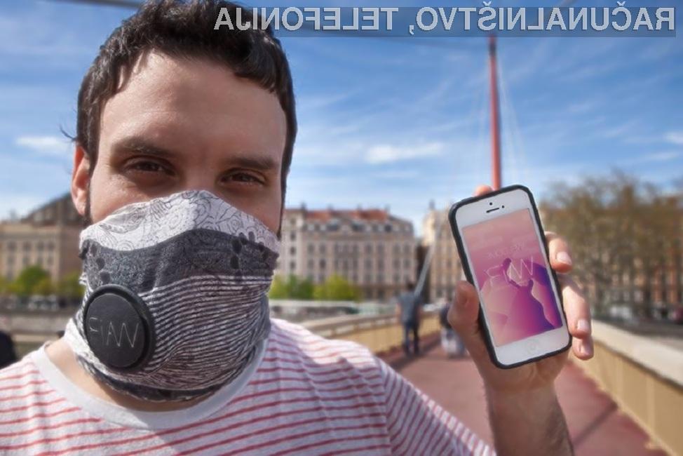 Pametni šal Wair uporabnika preko mobilne aplikacije obvešča o kakovosti zraka.