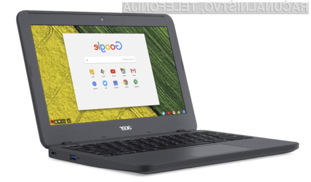 Prenosnik Acer Chromebook 11 N7 je pisan na kožo predvsem tistim, ki so veliko na terenu.