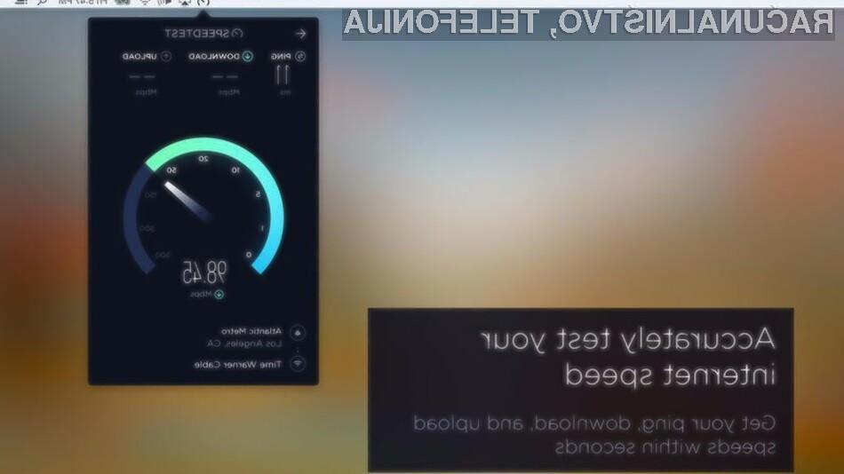 S pomočjo aplikacije Ookla Speedtest boste lahko takoj izmerili hitrost vaše internetne povezave!