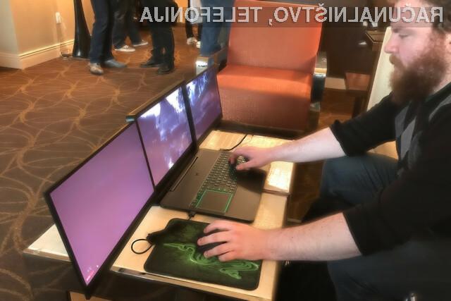 Revolucionarni igričarski prenosni računalnik Razer Project Valerie je na Kitajskem mogoče kupiti za preračunanih 20.300 evrov!